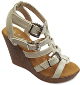 Nude Strappy Wedge Sandal