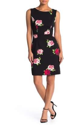 Betsey Johnson Floral Printed Scuba Crepe Dress