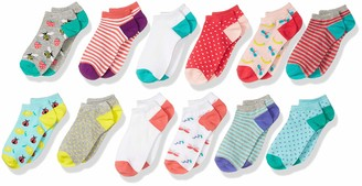 Spotted Zebra Kids' 12-Pack Low Cut Socks