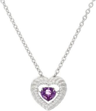 "Judith Ripka Sterling Silver & Gemstone Twinkle18"" Necklace"