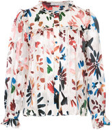 Alice + Olivia Alice+Olivia ruffle trim floral blouse
