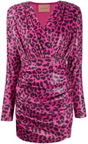 Andamane Colette sequinned leopard-print dress