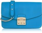 Furla Cerulean Blue Metropolis Small Shoulder Bag