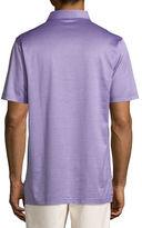 Peter Millar Fran Jacquard Cotton Lisle Polo Shirt