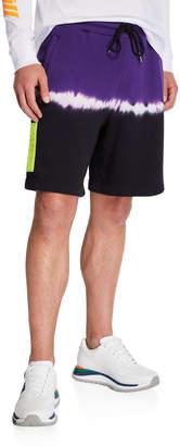 Diesel Men's Tie-Dye Stripe Sweat Shorts