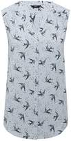 M&Co Bird print sleeveless shirt