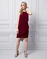 Le Château Chiffon Tiered Halter Dress