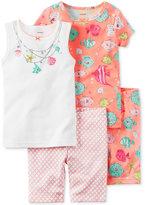 Carter's 4-Pc. Fish Cotton Pajama Set, Baby Girls (0-24 months)
