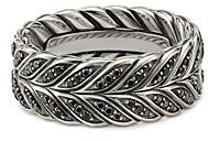 David Yurman Chevron Band Ring with Black Diamonds