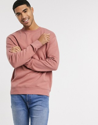 New Look relaxed crew neck sweat in rust