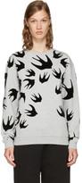 McQ Grey & Black Swallows Sweatshirt