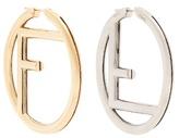 Fendi Logo metal earrings