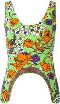 Balenciaga floral print cropped top