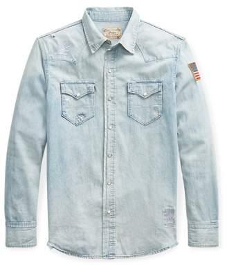 Ralph Lauren Flag Denim Western Shirt