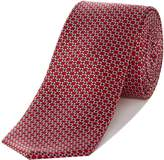Kenneth Cole Print Diamond Textured Geo Silk Tie