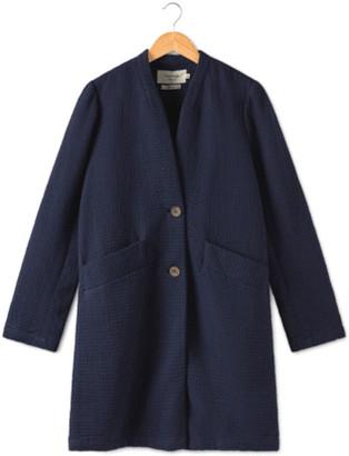Nice Things Jacquard Crinkled Cotton Coat - 38
