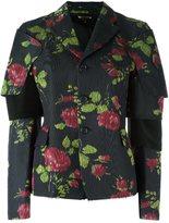 Comme des Garcons flower print jacket - women - Cupro/Polyester/Silk/Cotton - M