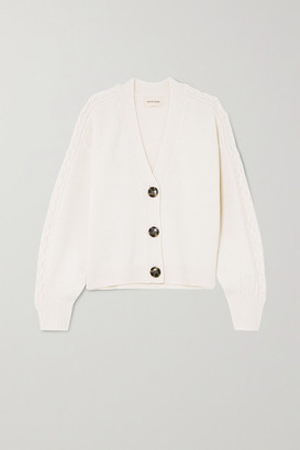 LOULOU STUDIO Tahaa Wool And Cashmere-blend Cardigan - Cream
