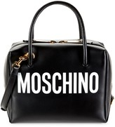 Moschino Logo Leather Structure Tote