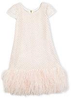 Zoë Ltd Cap-Sleeve Netted Shift Dress, Pink, Size 4-6X