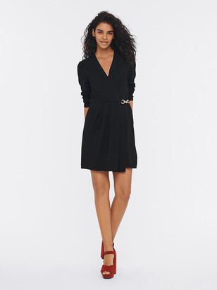 Diane von Furstenberg Christel Crepe Mini Wrap Dress