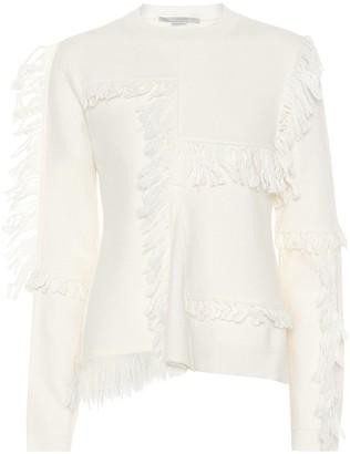 Stella McCartney Fringed wool sweater