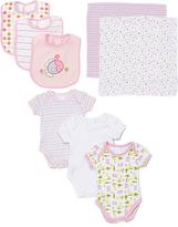 SpaSilk Pink Hippo Bodysuit Set - Infant