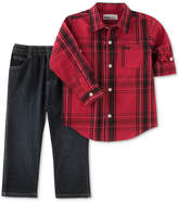 Kids Headquarters 2-Pc. Plaid Shirt and Pants Set, Toddler Boys (2T-5T)