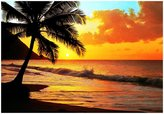 Ideal Decor Brewster Pacific Sunset Wall Mural