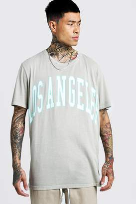 boohoo Los Angeles Loose Fit Overdyed T-Shirt