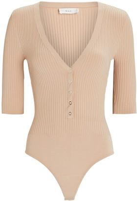 A.L.C. Toni Rib Knit Henley Bodysuit