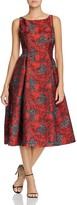 Adrianna Papell Floral Tea-Length Dress