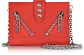 Kenzo Red Gommato Leather Kalifornia Wallet w/Chain Strap