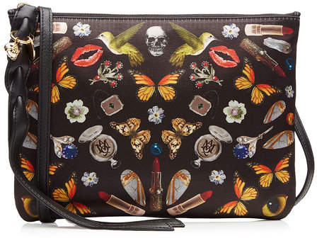 Alexander McQueen Printed Fabric Shoulder Bag