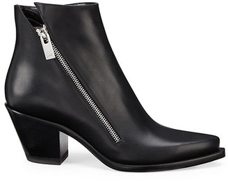 Christian Louboutin Santiazip Leather Ankle Boots