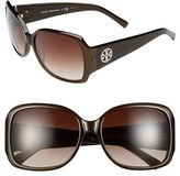 Tory Burch Women's 58Mm Oversized Square Sunglasses - Olive