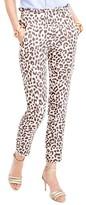 J.Crew Women's Ruffle Waist Leopard Print Linen Pants