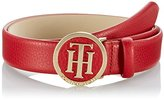 Tommy Hilfiger Women's TH Round Buckle Belt 3.0 Polo Shirt