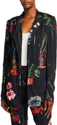 Lela Rose Floral-Print Blazer