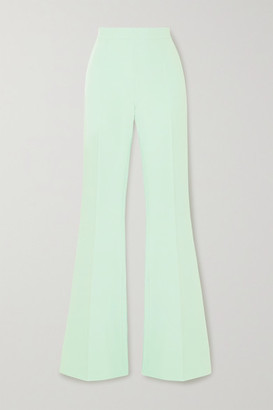 Safiyaa Halluana Stretch-crepe Flared Pants - Jade