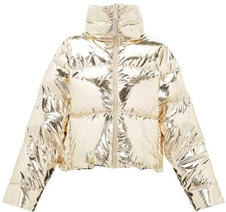 Cordova Mont Blanc Metallic Down-filled Jacket - Womens - Gold