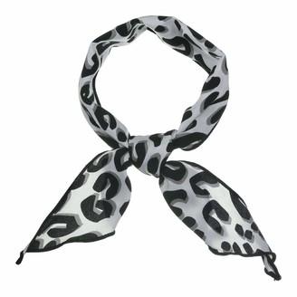 Allegra K Leopard Print Triangle Scarf Neck Scarves Hair Ribbon Chic Neckerchief for Women - Multi - 85 x 33cm/ 33.46 x 12.99 inches(L*W)