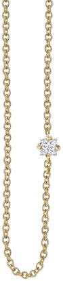 Lizzie Mandler Floating White Diamond Princess Necklace
