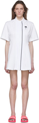 Palm Angels White Tennis Track Dress