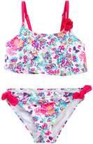 Betsey Johnson Floral Print Flounce 2-Piece Bikini (Little Girls)