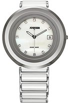 Jowissa Women's J6.003.L Cyclon White Ceramic Mother-of-Pearl Date Watch