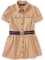 Ralph Lauren Chino Shirtdress, Toddler & Little Girls (2T-6X)
