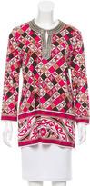 Tory Burch Silk Embellished Tunic