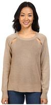 MICHAEL Michael Kors Raglan Cut Out Long Sleeve Sweater