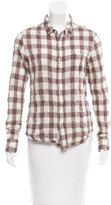 Rag & Bone Plaid Button-Up Top